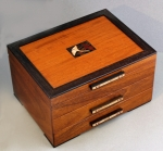 Heartwood Creations - Jewelry Box - Gingko Leaves 2 Drawer