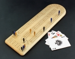Heartwood Creations - Cribbage Board - Quilted Maple 3-Track