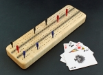 Heartwood Creations - Cribbage Board - Maple with Cards