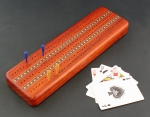 Heartwood Creations - Cribbage Board - Padauk with Cards