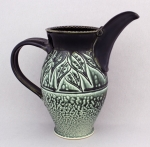 Ira Burhans - Black & Teal- Bird Pitcher