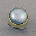 Jewellers' Guild - Mabe' Pearl Ring - 15048-01