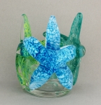 Gibbons - Starfish Small Blues and Greens Sculptural Vase