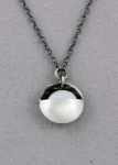 J & I Sterling Silver & Coin Pearl Necklace - DPX38N