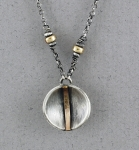 J & I Sterling Silver and 14k Gold Filled Necklace- GFX157N