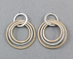 J & I - Sterling Silver & Gold Filled Post Earrings - GFX14PE