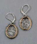 J & I Sterling Silver and 14k Gold Filled Earrings - GFX32E