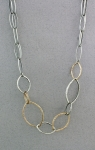 J & I - Sterling Silver & Gold Filled Necklace - DPX331N