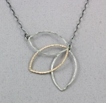 J & I - Sterling Silver & Gold Filled Necklace - GFX333N