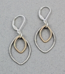 J & I - Sterling Silver & Gold Filled Earrings - GFX334E