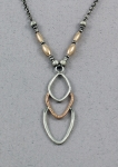 J & I - Sterling Silver & Gold Filled Necklace - GFX505N