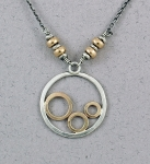 J & I - Sterling Silver & Gold Filled Necklace - GFX506N