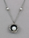 J & I - Sterling Silver Necklace with Freshwater Pearls - DPX70N