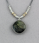 J & I Sterling Silver and 14k Gold Filled Necklace with Labradorite - LGX15N