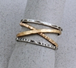 J & I - Sterling Silver & Gold Filled Ring - STK19R