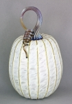 Jack Pine Studio - Large Tall Pumpkin White Luster JP24
