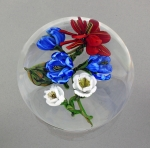 Karen Federici - Paperweight - Red, White & Blue Floral