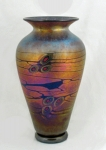 Lindsay Art Glass - Copper Arts and Crafts MN Vase