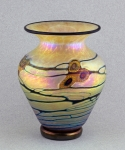 Lindsay Art Glass - Gold Arts & Crafts SW Vase