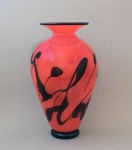 Lindsay Art Glass - Red Clouds Vase