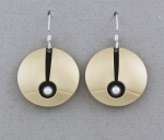 Mar of Santa Barbara: Sterling Silver & Nu-Gold Earrings - 773N