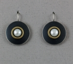 Mar of Santa Barbara: Sterling Silver & Nu-Gold Earrings - MAR - EM368