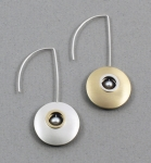 Mar of Santa Barbara: Sterling Silver & NuGold Earrings - EM415-PRL
