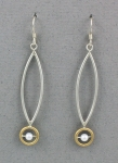 Mar of Santa Barbara: Sterling Silver & Nu-Gold Earrings - EM427-PRL