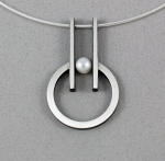 Mar of Santa Barbara: Sterling Silver Necklace - NS189-PRL
