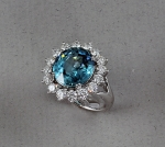 Michael Chang - Zircon & Diamond Ring MC-10386-02