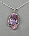 Michael Chang - Kunzite, Tourmaline & Diamond Pendant MC-10386-05