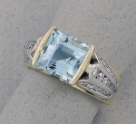 Michael Chang -  Aquamarine & Diamond Ring MC-15201-40