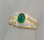 Michael Chang - Emerald & Diamond Ring MC-15202-13