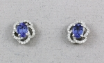 Michael Chang - Tanzanite & Diamond Earrings MC-50010-05