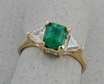 Michael Chang - Emerald & Diamond Ring MC-15202-12