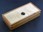 Mikutowski Woodworking Jewelry Box: Cherry Wood with Curly Maple Top MM19