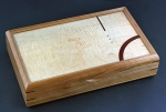 Mikutowski Woodworking Jewelry Box VAL 99: Curly Maple & Cherry accented with Padauk and Abalone Shell
