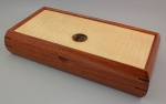 Mikutowski Woodworking Jewelry Box VAL 96: Bubinga, Curly Maple Top & Wenge with Medallion Inlay