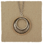 J & I Sterling Silver and 14k Gold Filled Necklace - GFX190N