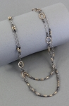 J & I Sterling Silver and 14k Gold Filled Extra Long Necklace - GFX50N