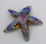 Opal Art Glass - Starfish Amber Luster