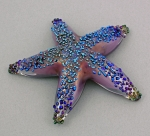 Opal Art Glass - Starfish Mauve Luster