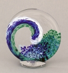 Opal Art Glass - Large Wave Sculpture
