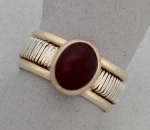 Peter James Ring - One of a Kind SS/14k Garnet
