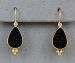 Patrick Murphy - Black Druse & Diamond Earrings 18145-02