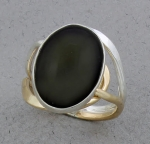 Peter James Ring - 1231CO-Rainbow Obsidian