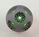 Raj Kommineni - Opal Basket Paperweight-Large Lavender & Green