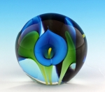 Scott Bayless - Mini Paperweight - Turquoise Calla Lily
