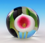 Scott Bayless - Mini Paperweight - White/Pink Calla Lily