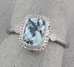 Stanton Color - Aquamarine & Diamond Ring SC-16147-13